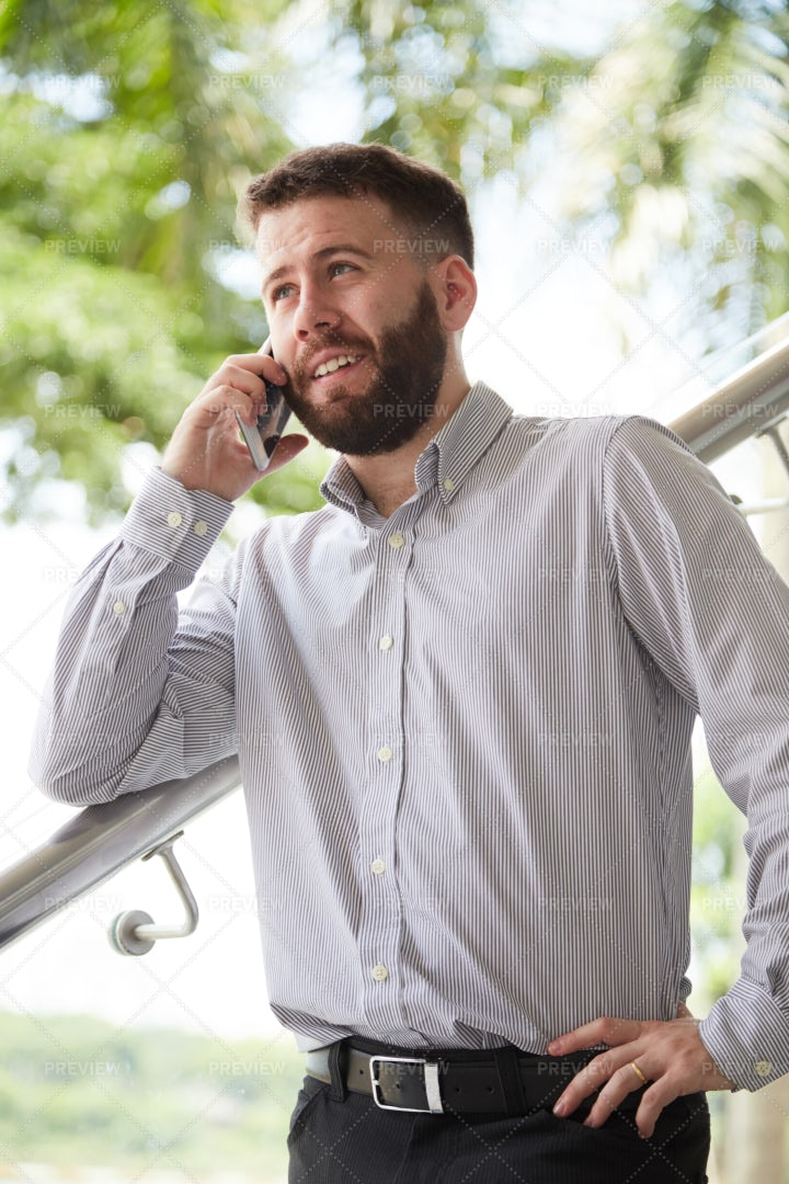 Business Talk On Mobile Phone: Stock Photos