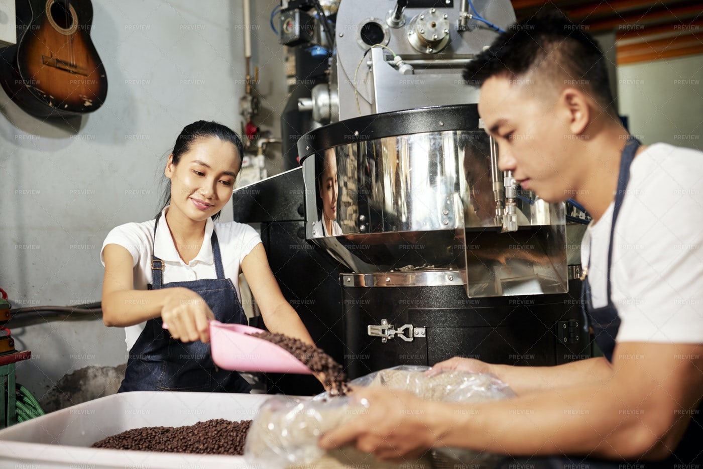 People Working In Team On Coffee: Stock Photos