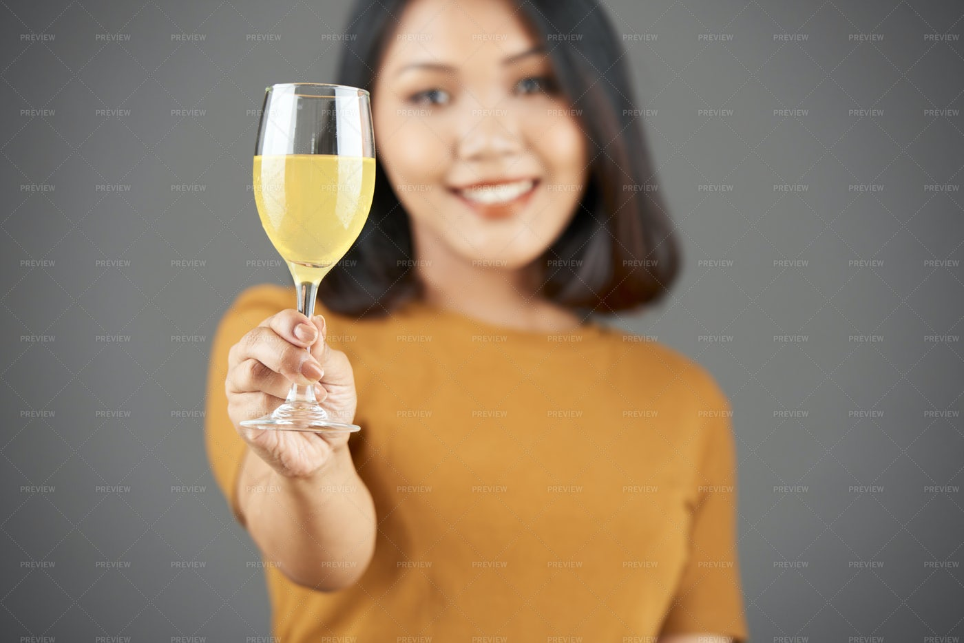 Woman Celebrating With Cocktail: Stock Photos