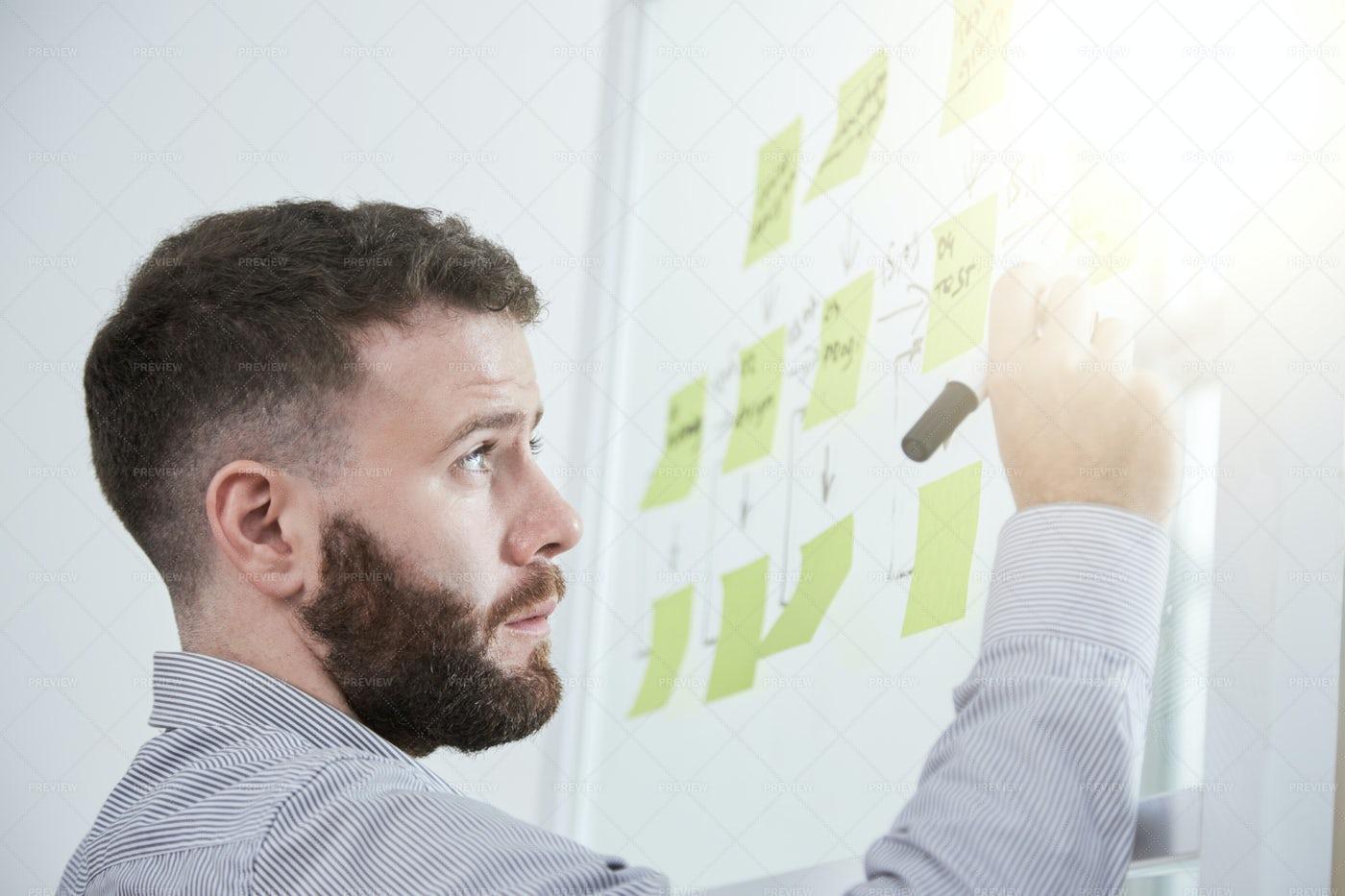 Businessman Planning His Work: Stock Photos