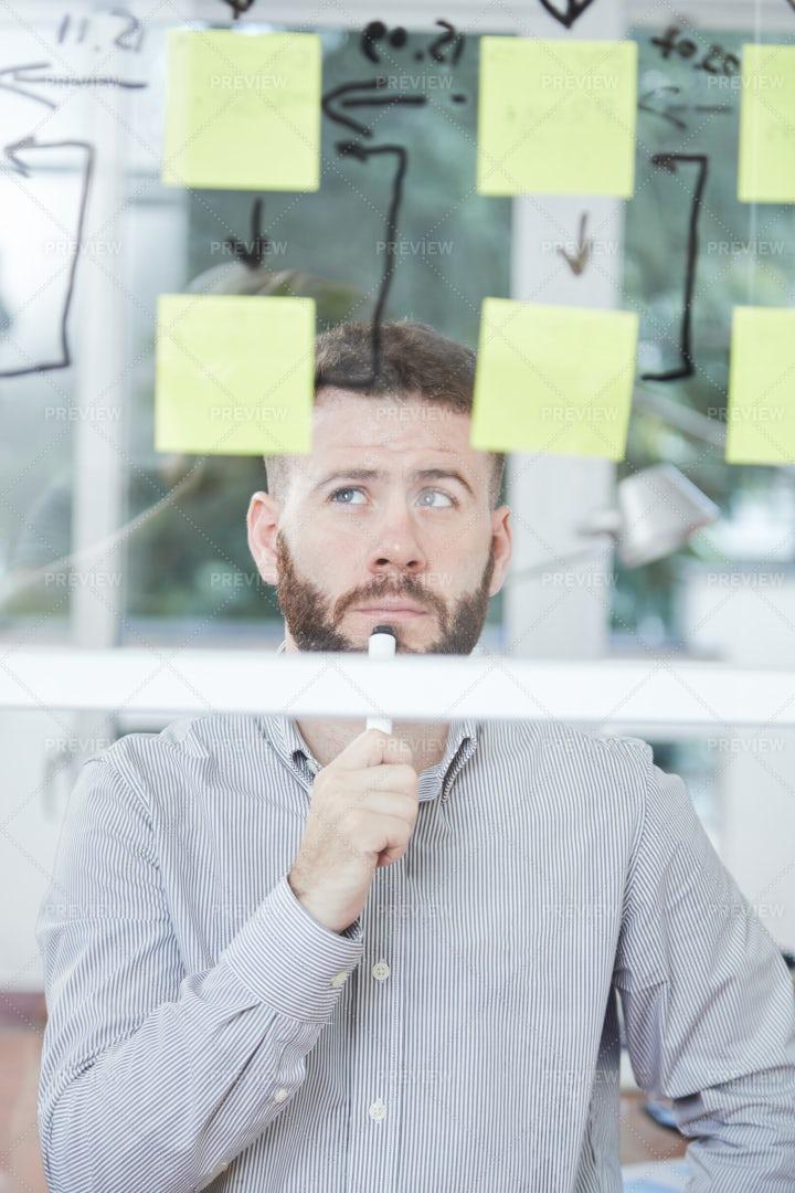 Businessman Creating A Business Plan: Stock Photos
