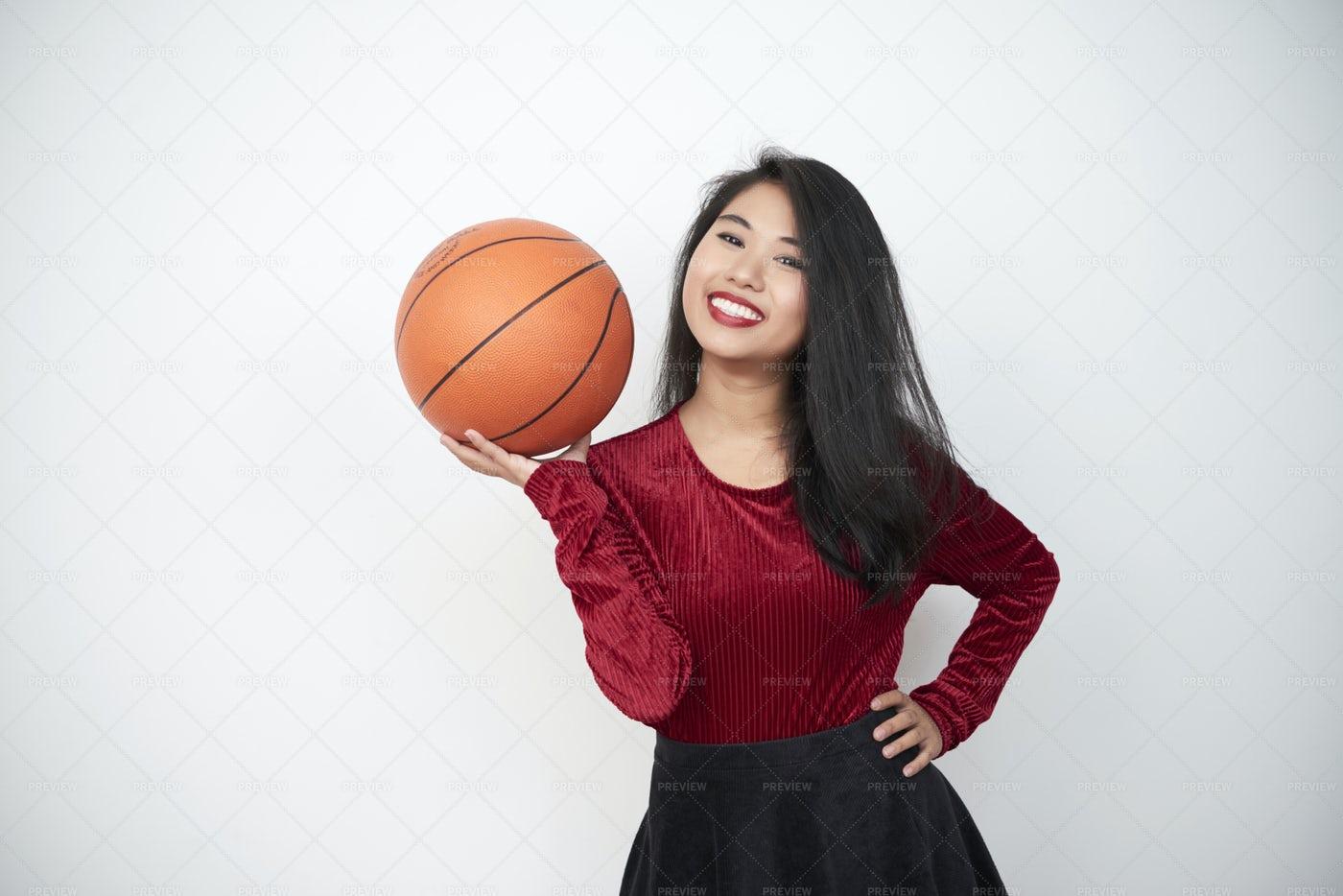 Woman Loves Basketball: Stock Photos