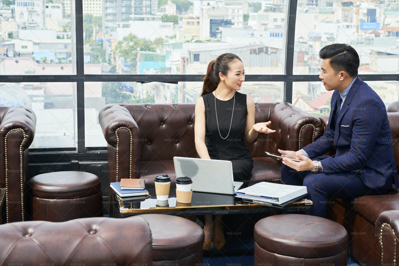 Business People Discussing Project: Stock Photos