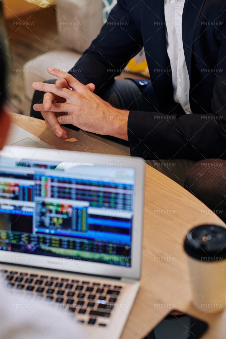 Entrepreneur Meeting Financial Adviser: Stock Photos