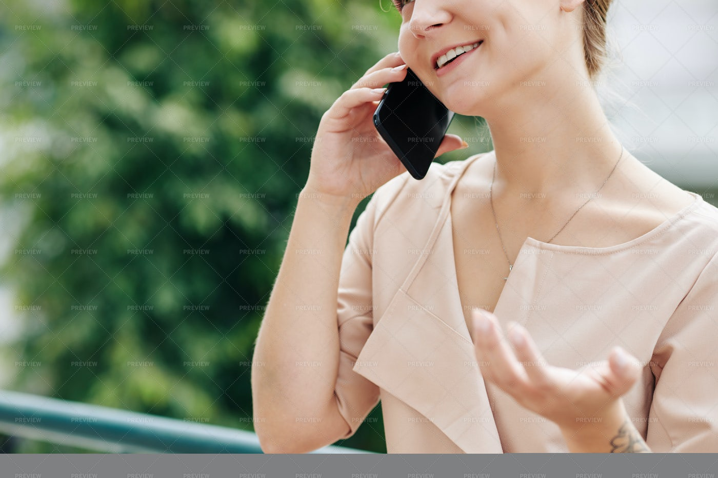 Young Woman Calling On Phone: Stock Photos