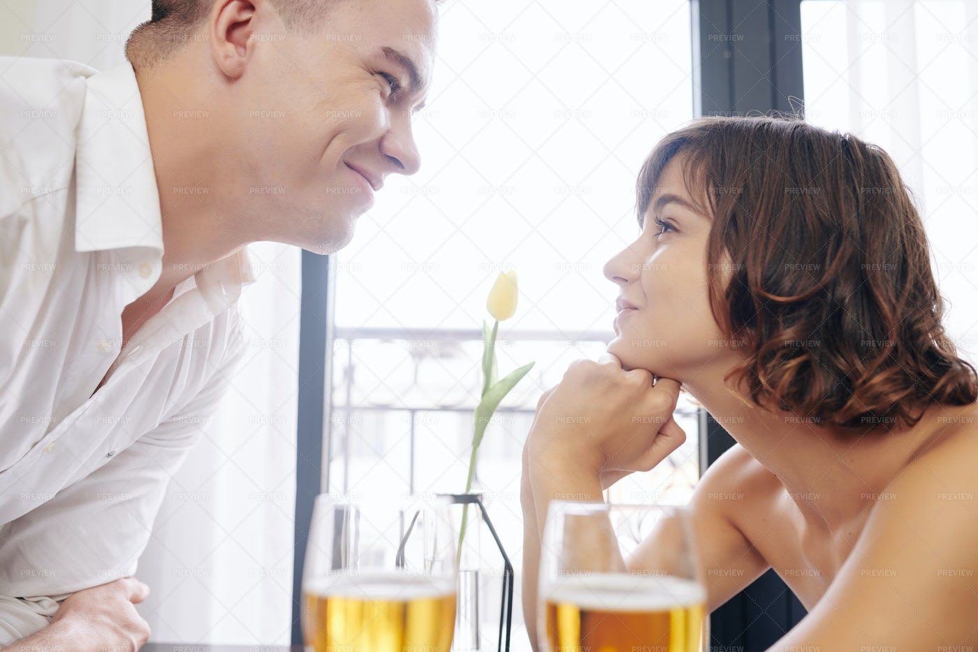 Happy Young Couple In Love: Stock Photos