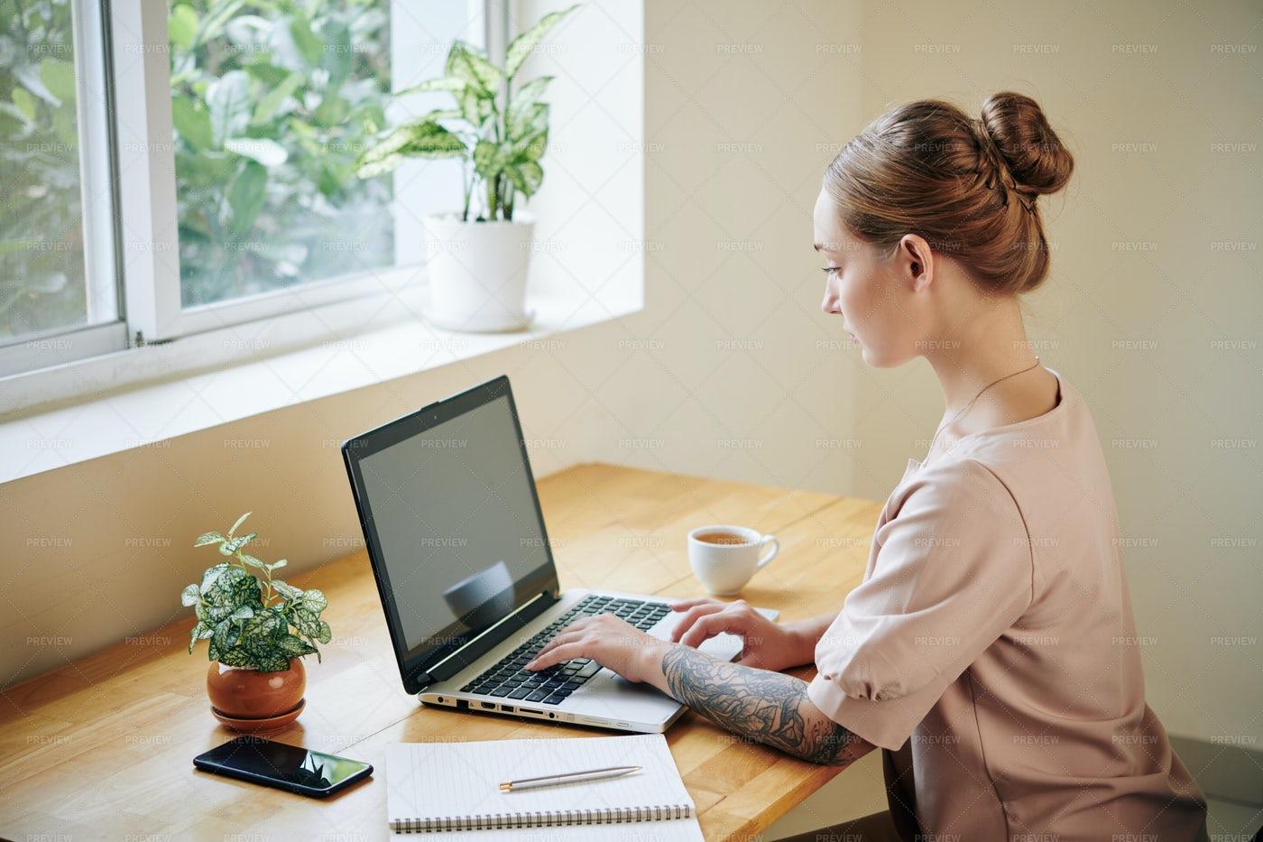 Female Student Doing Homework: Stock Photos
