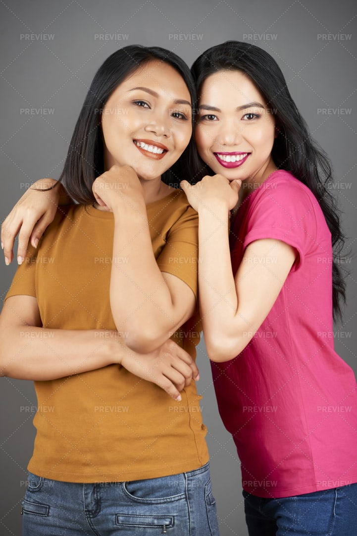 Two Happy Best Friends: Stock Photos