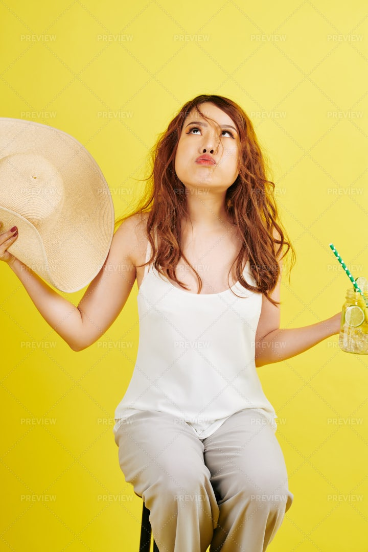 Model Tired Of Shooting: Stock Photos