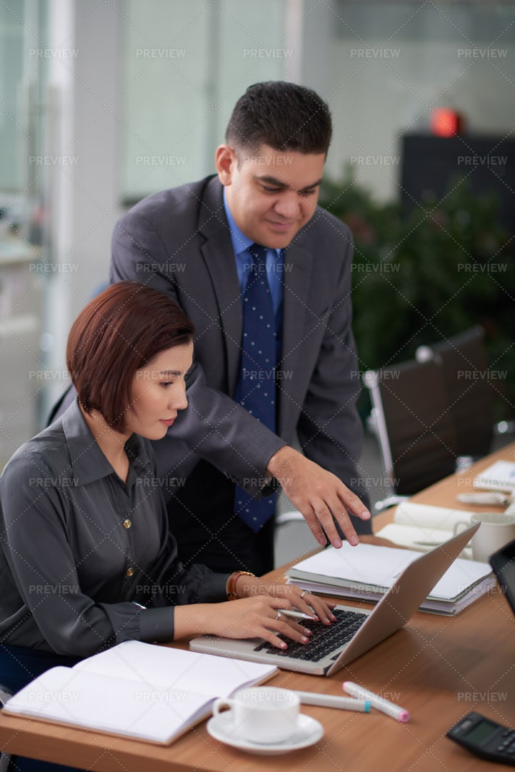 Business Colleagues Working At Office: Stock Photos