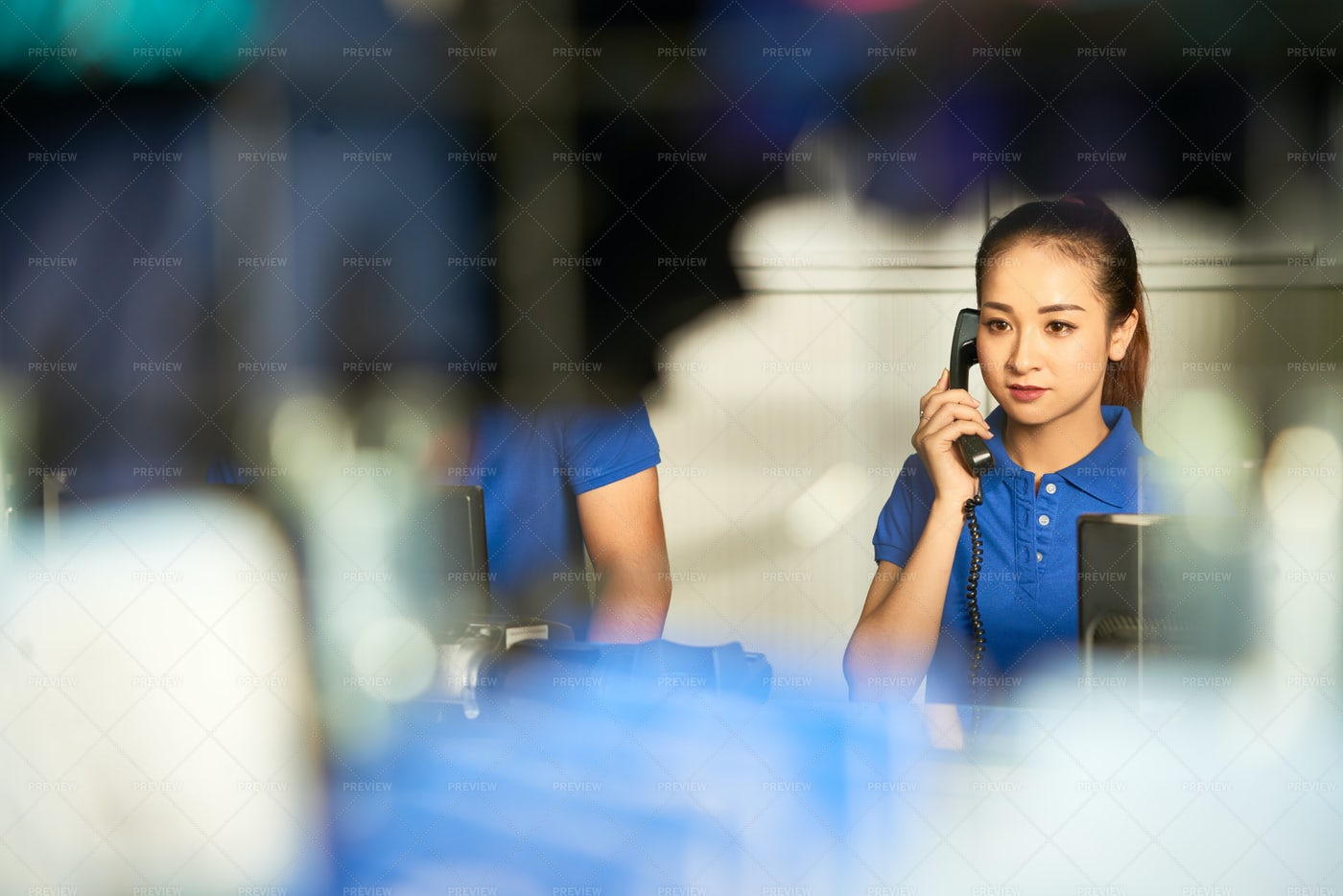 Consulting Customer On The Phone: Stock Photos
