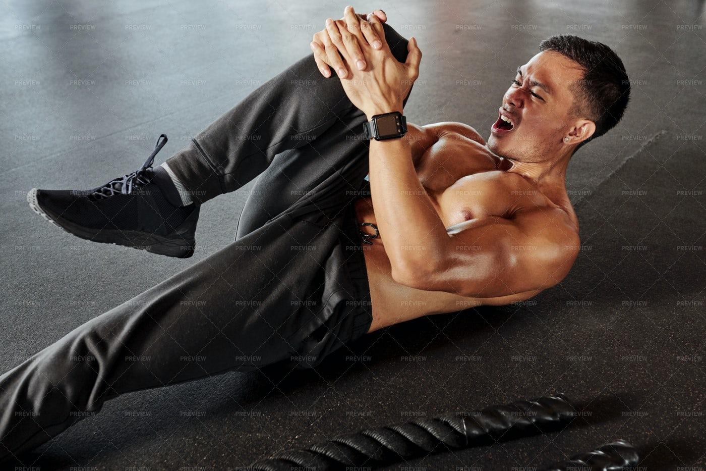 Man Exercising On The Floor: Stock Photos