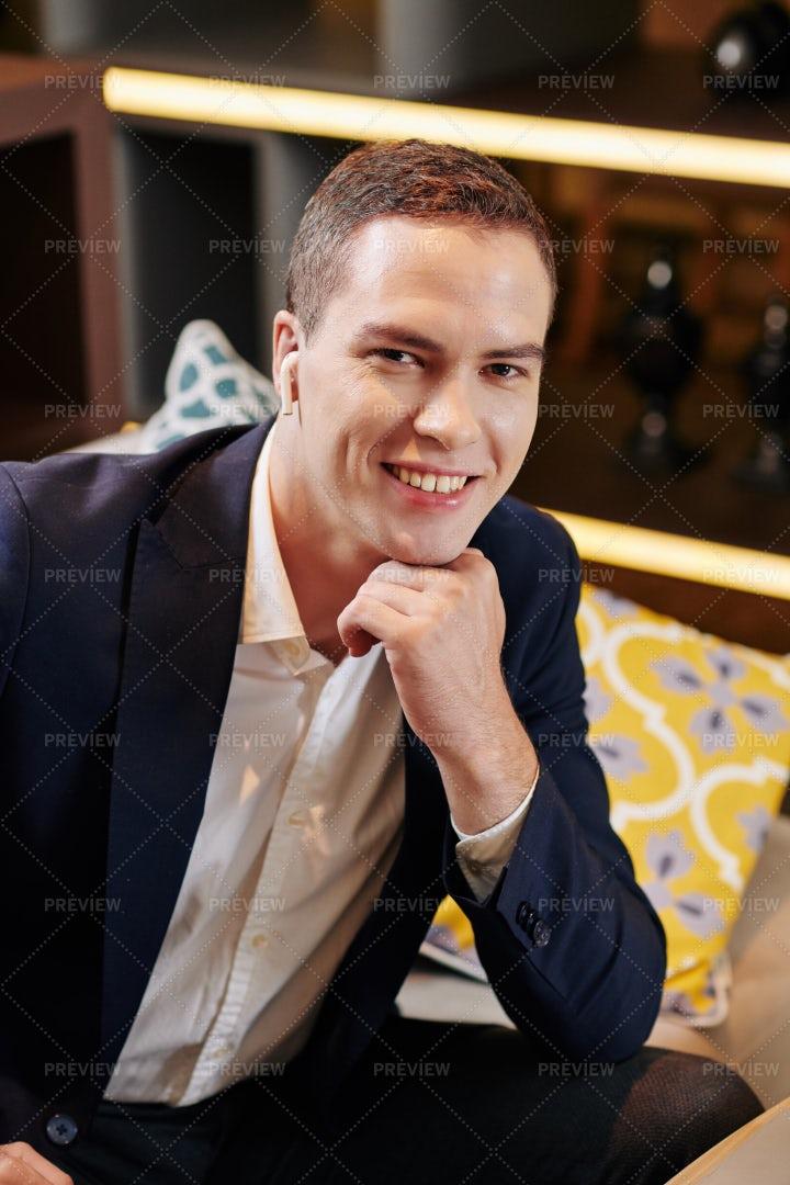 Positive Handsome Entrepreneur: Stock Photos