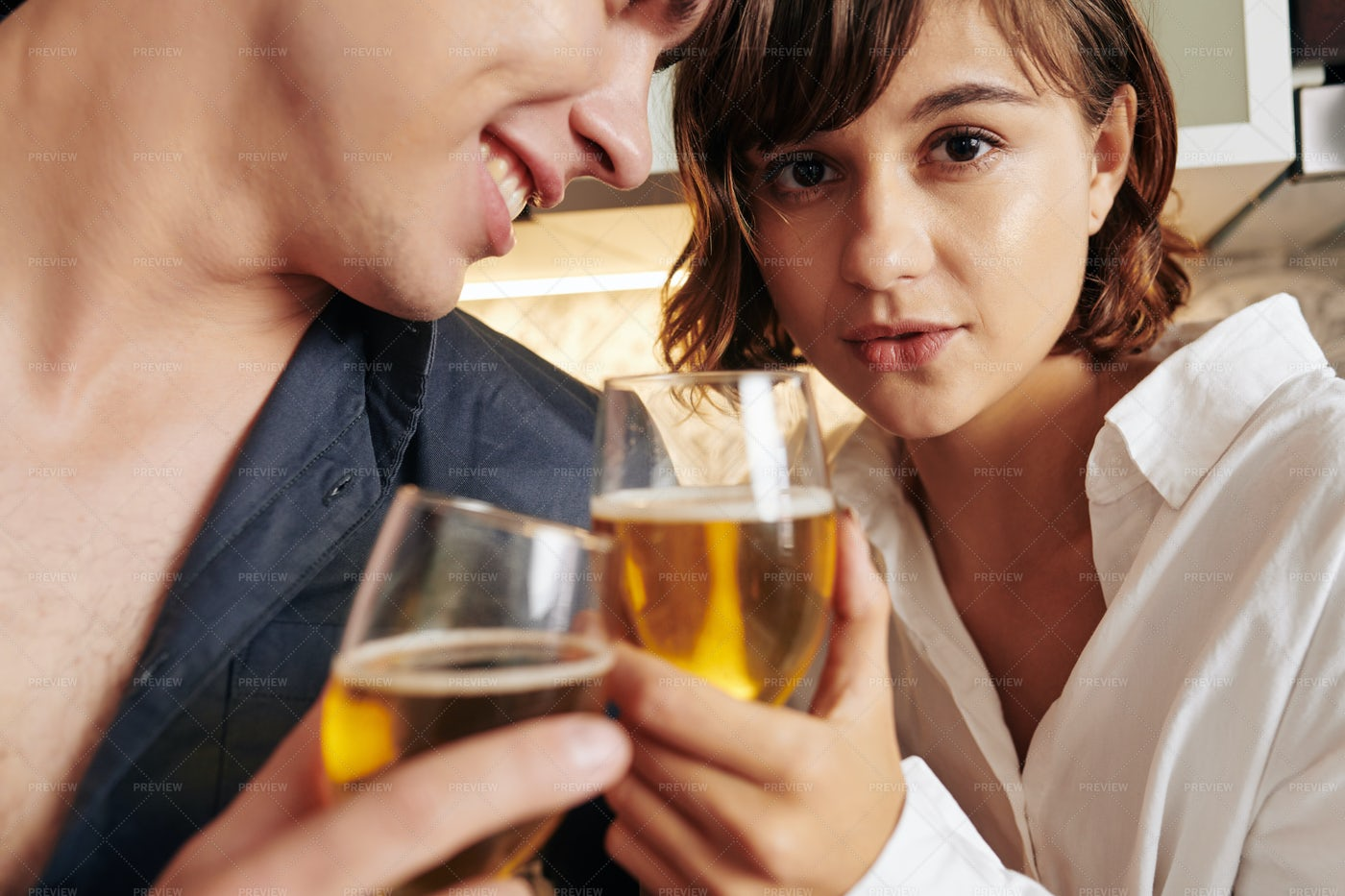 Attractive Young Woman Drinking Wine: Stock Photos