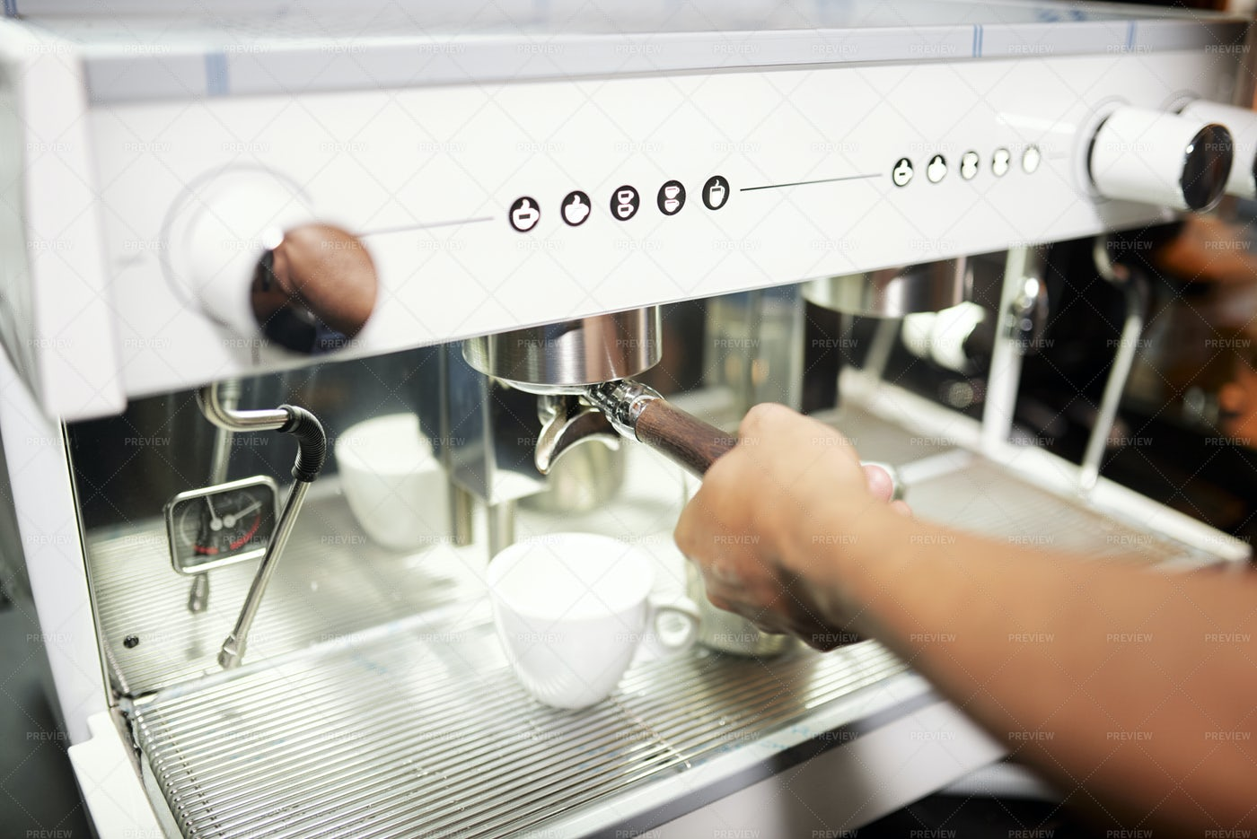 Barmen Making Coffee: Stock Photos