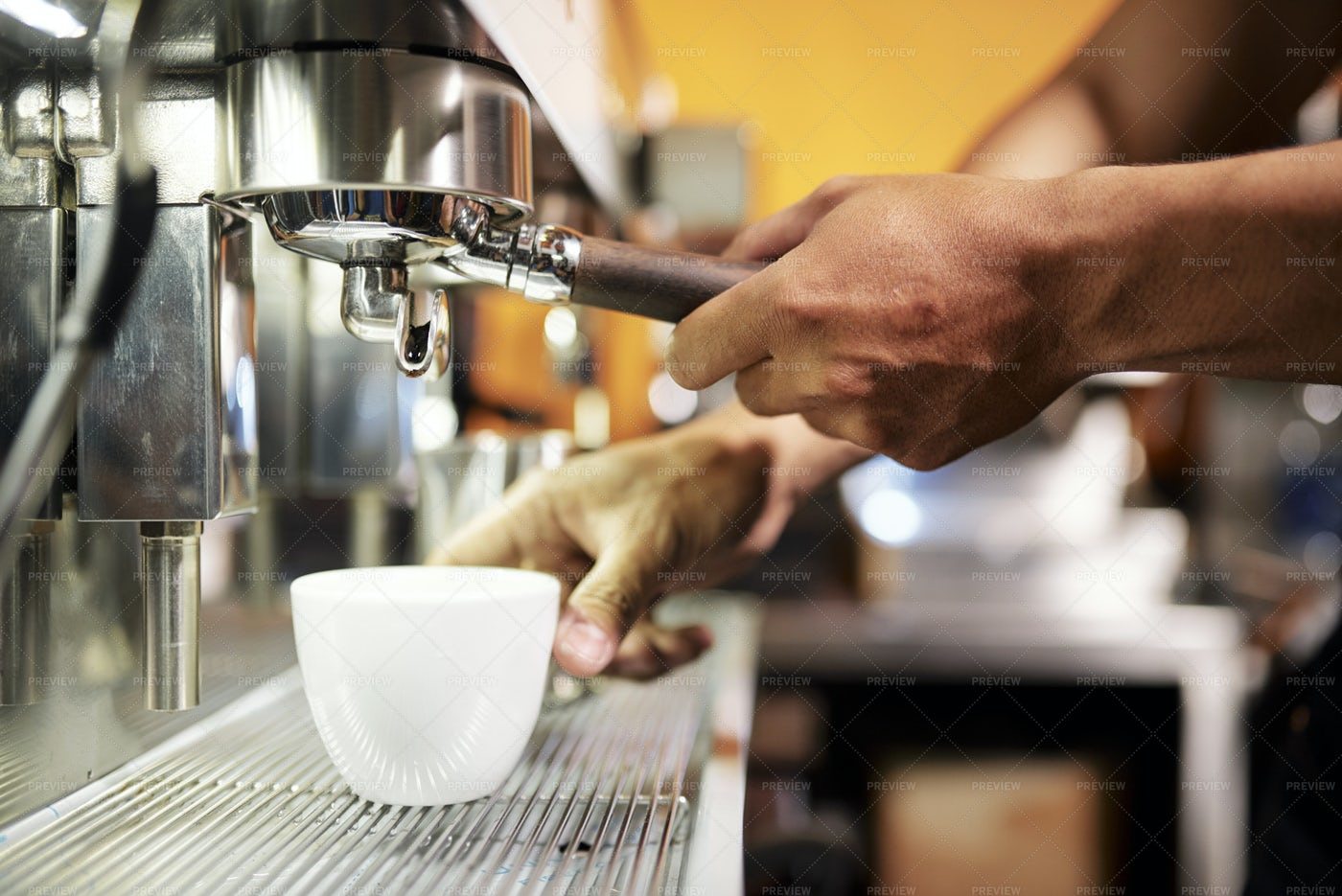 Making Hot Coffee Drink: Stock Photos