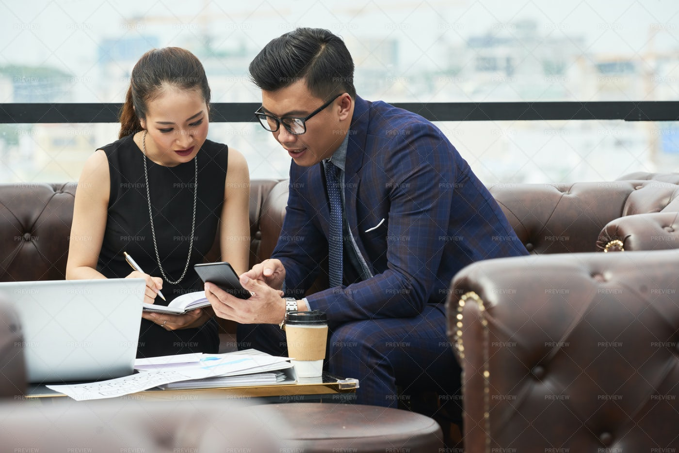 Business People Working On Project: Stock Photos