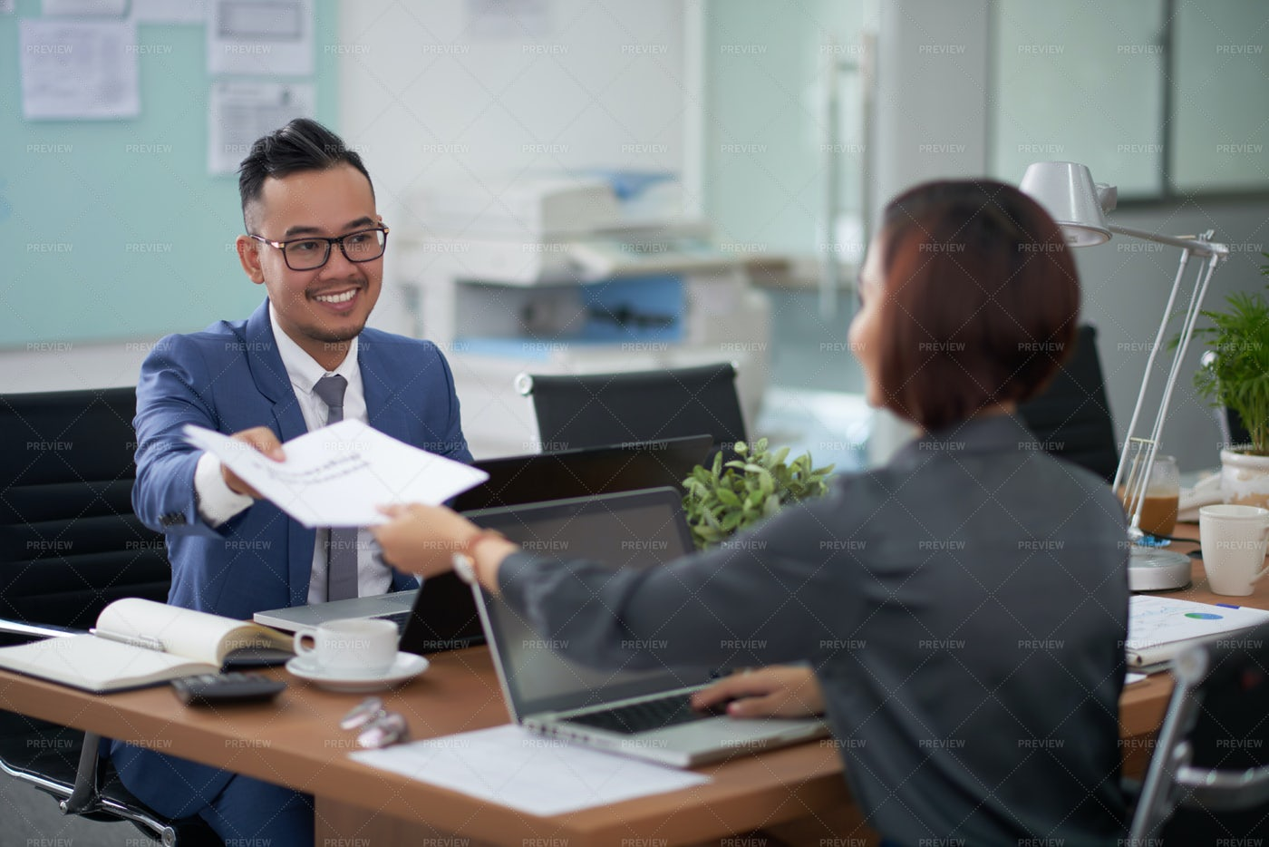 Business People Working Together At: Stock Photos