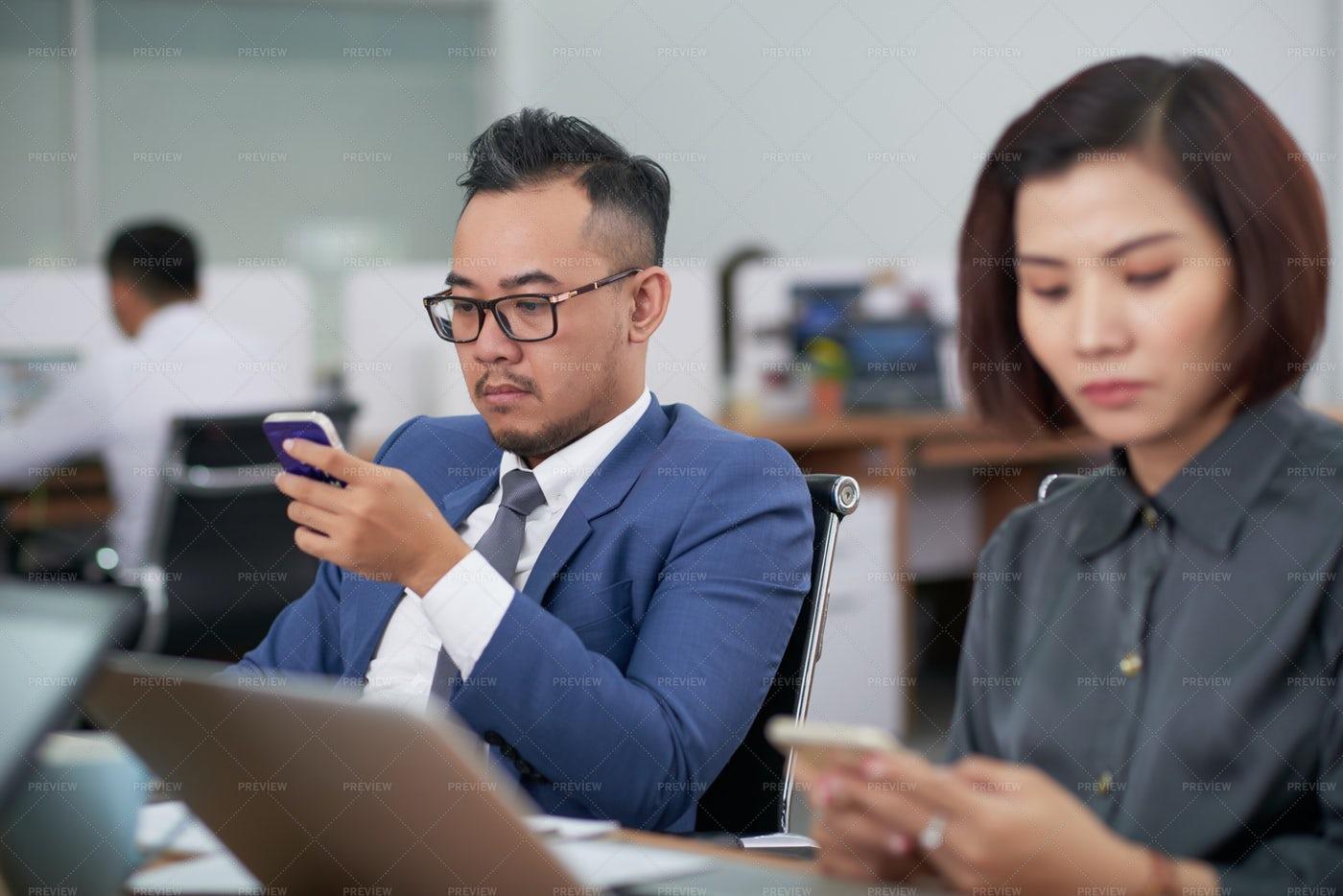 Break During Business Meeting: Stock Photos