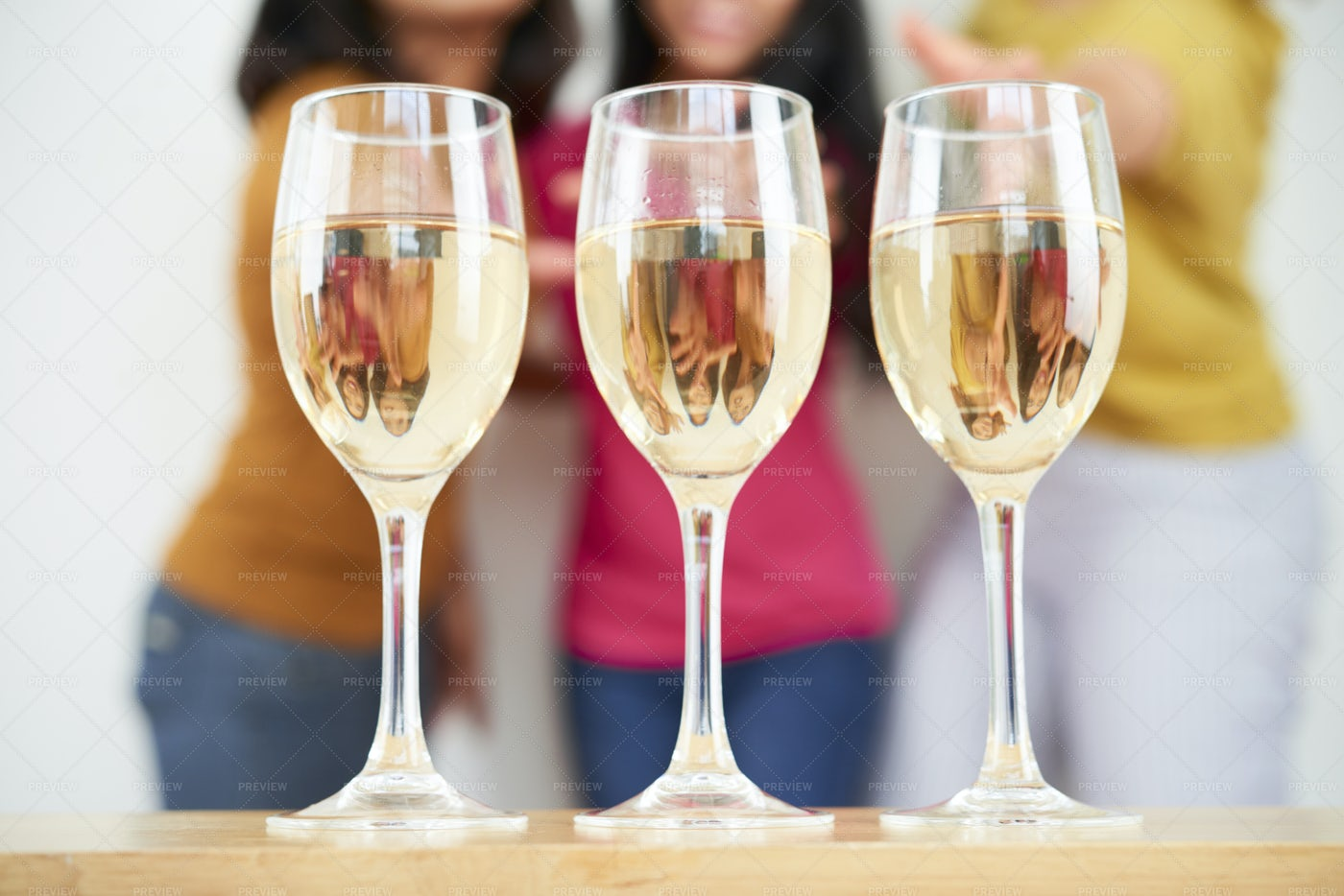 Three Glasses With Champagne: Stock Photos