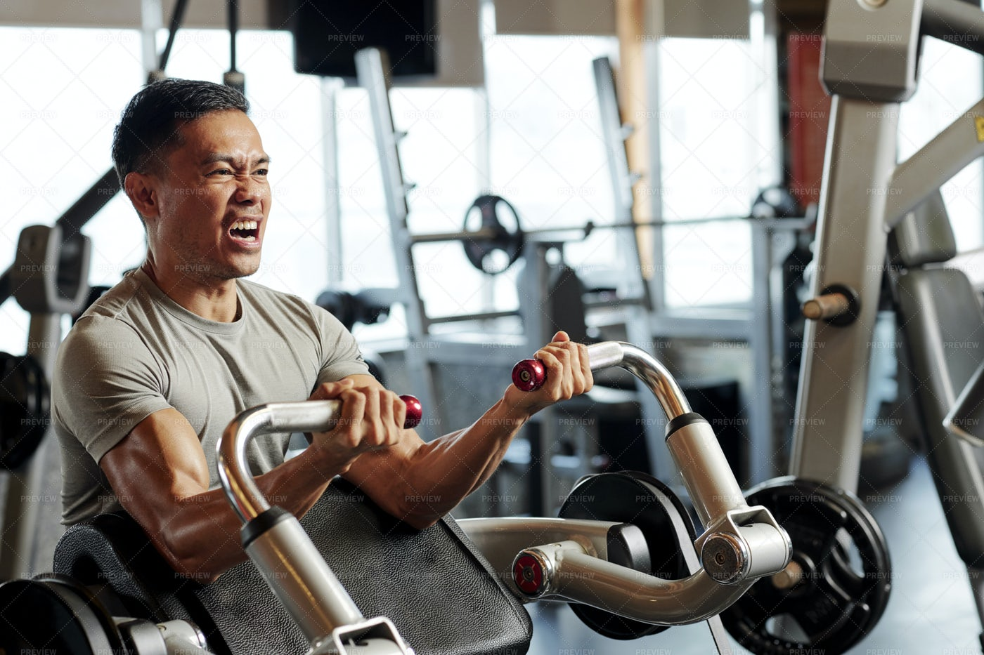 Sports Training In Fitness Gym: Stock Photos
