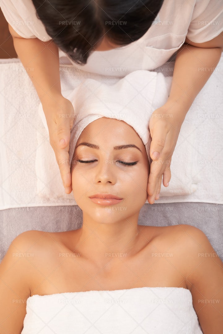 Massage Therapy For Face: Stock Photos