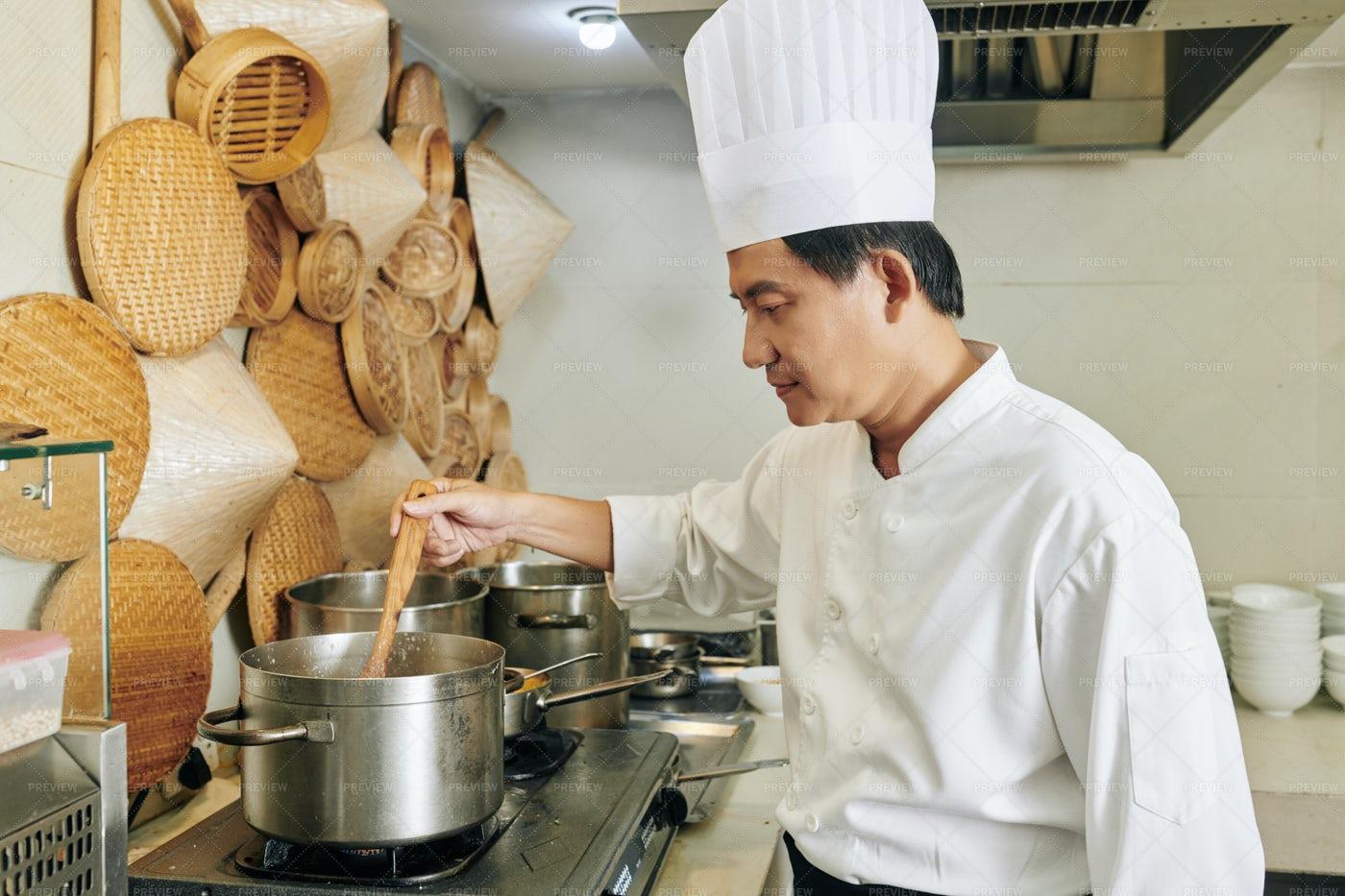 Chef Preparing The Food: Stock Photos