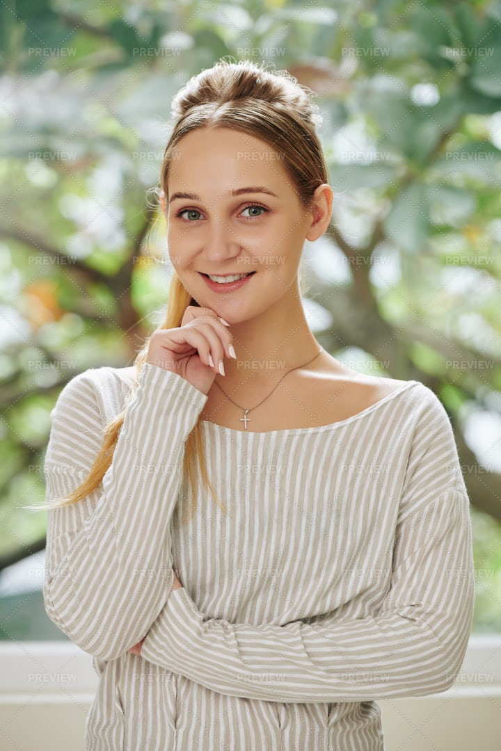 Lovely Smiling Young Woman: Stock Photos