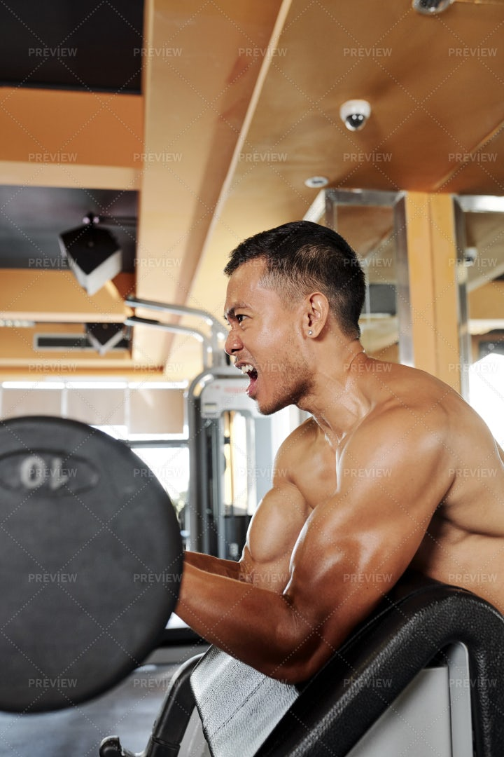 Man Lifting With Barbell: Stock Photos