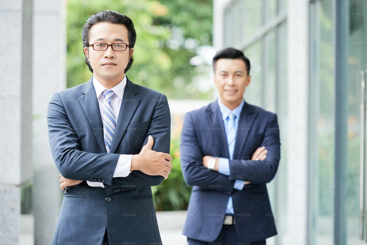 Two Businessmen Outdoors: Stock Photos