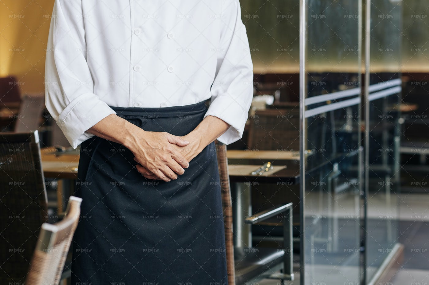 Male Waiter At The Restaurant: Stock Photos