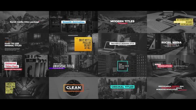 Social Media Titles Package: After Effects Templates