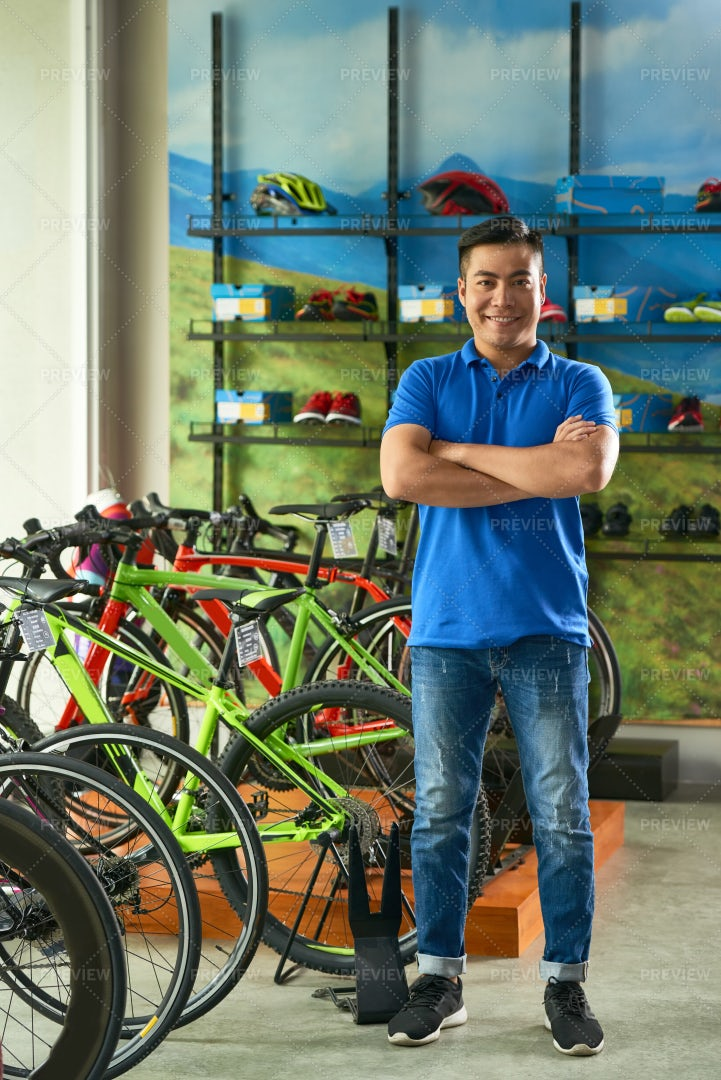 Bicycle Store Manager: Stock Photos
