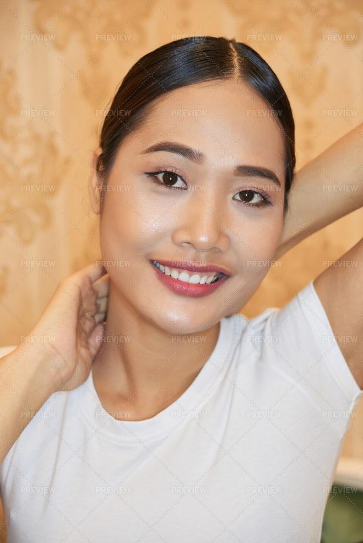 Asian Beautiful Model: Stock Photos