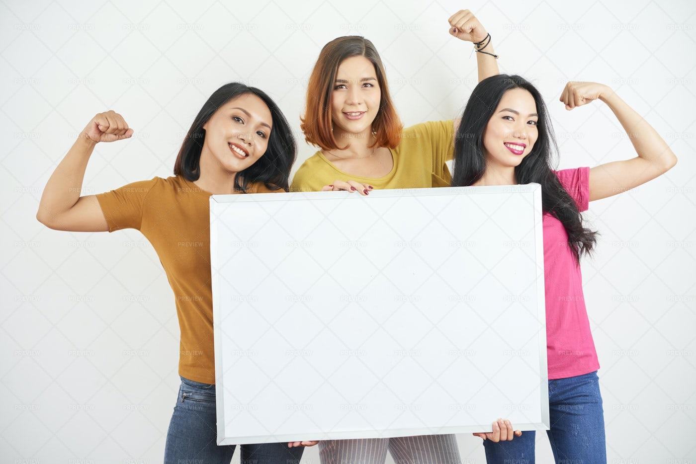 Women Showing Their Girl Power: Stock Photos