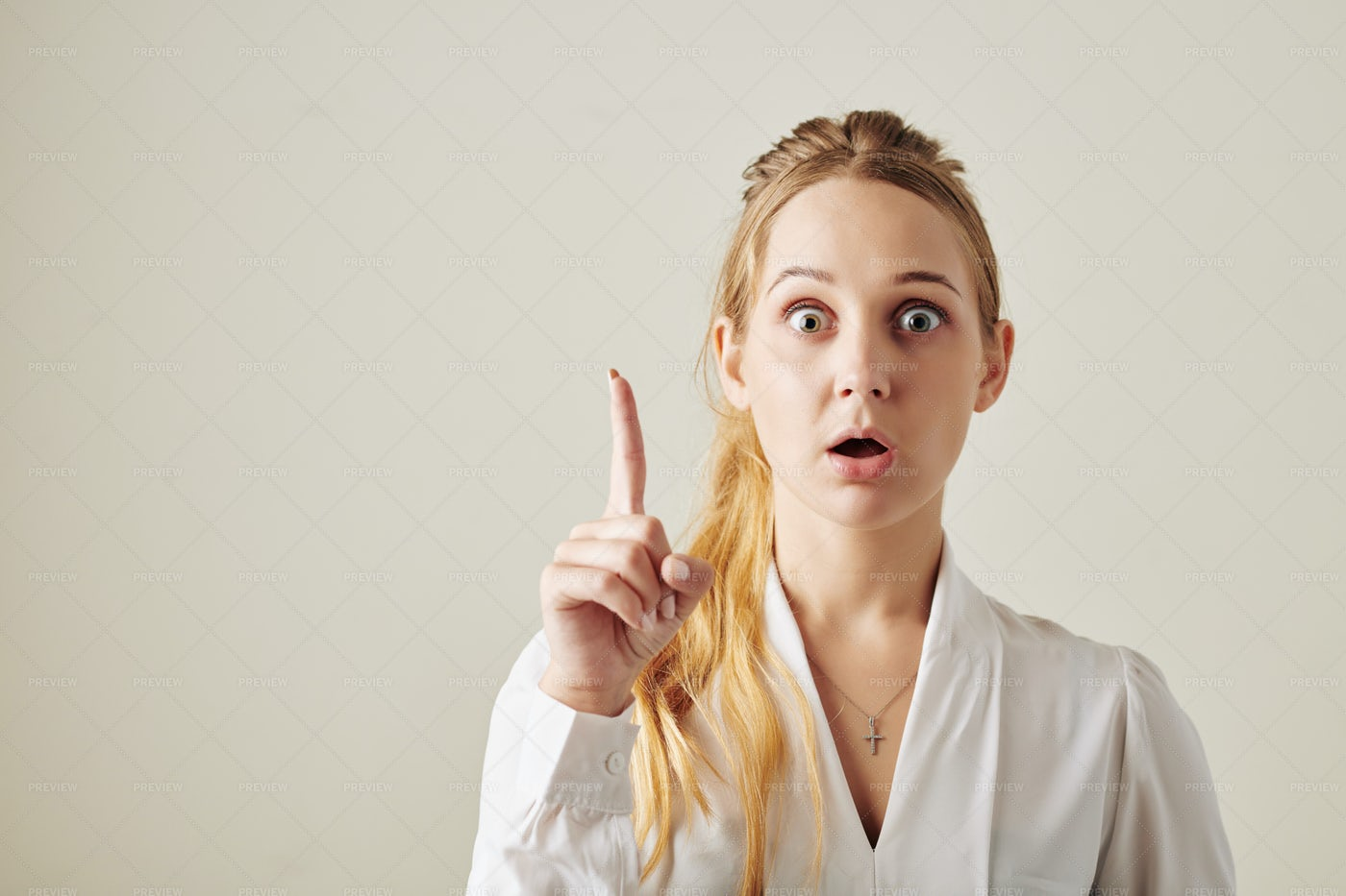 Shocked Young Woman: Stock Photos