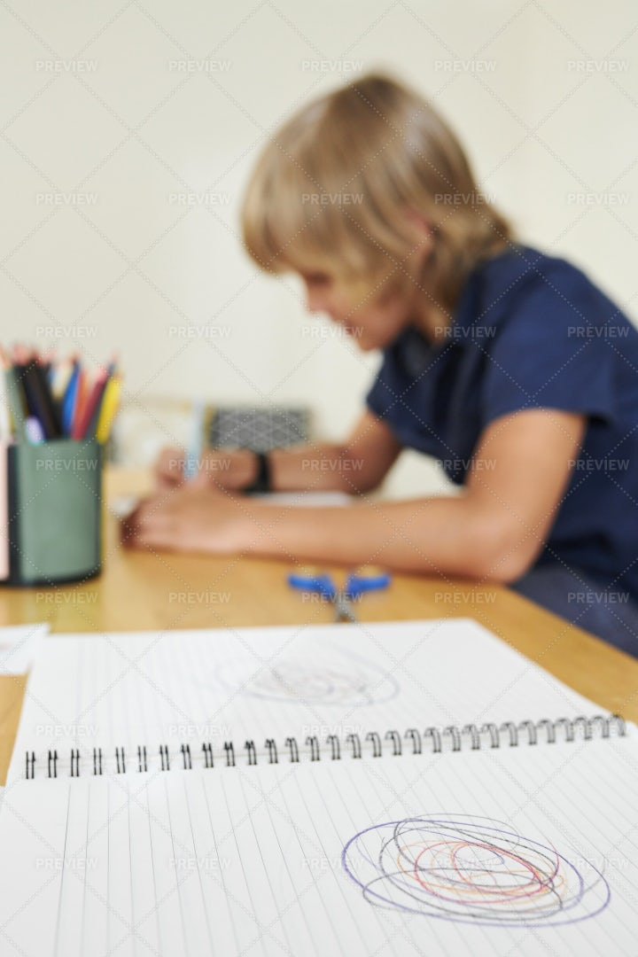 Textbook With Scribble: Stock Photos