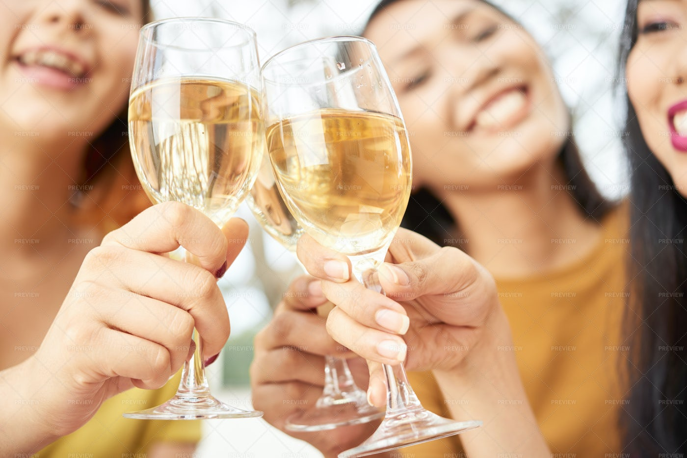Women Toasting With Champagne: Stock Photos