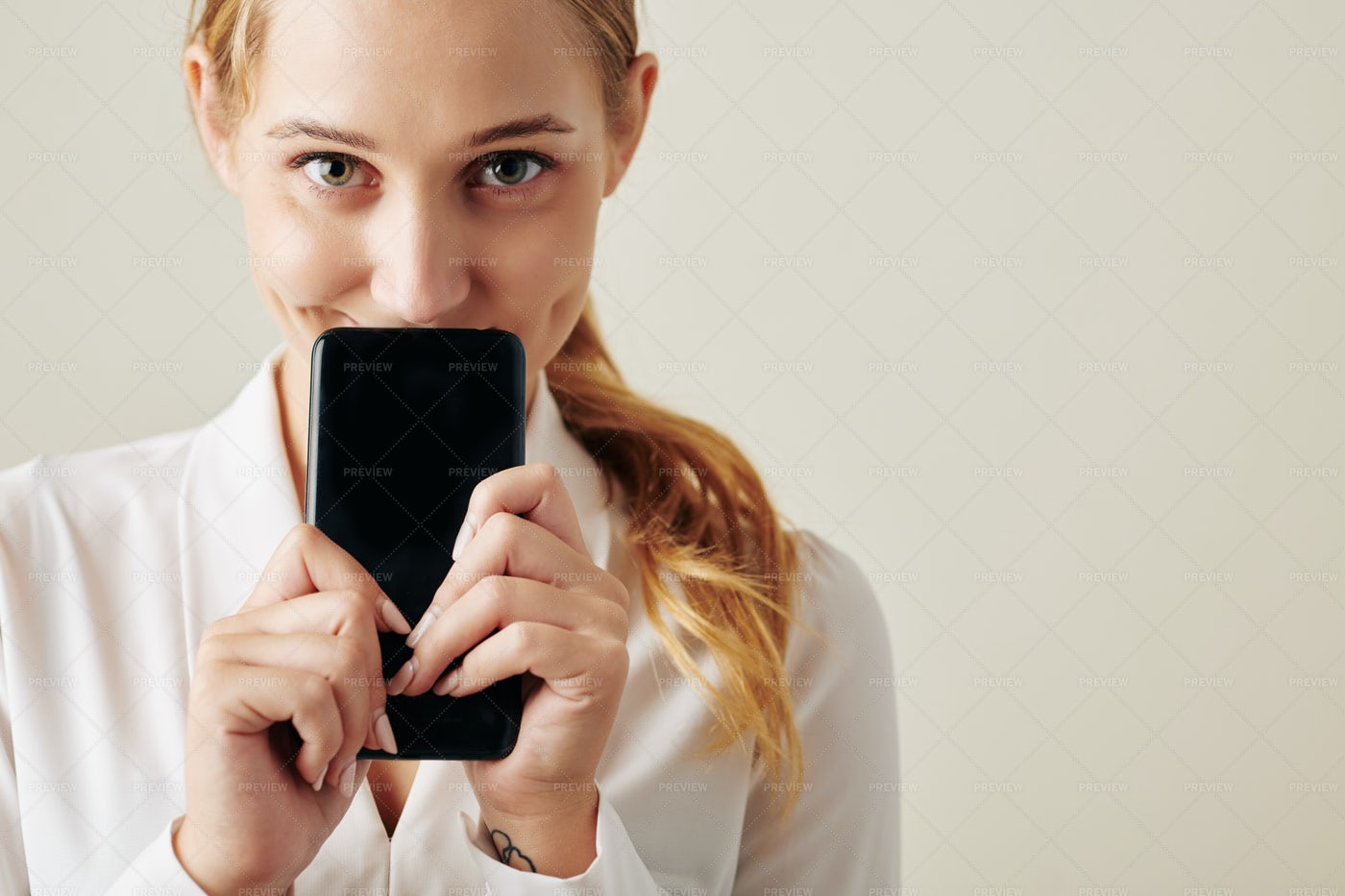 Excited Woman With Smartphone: Stock Photos