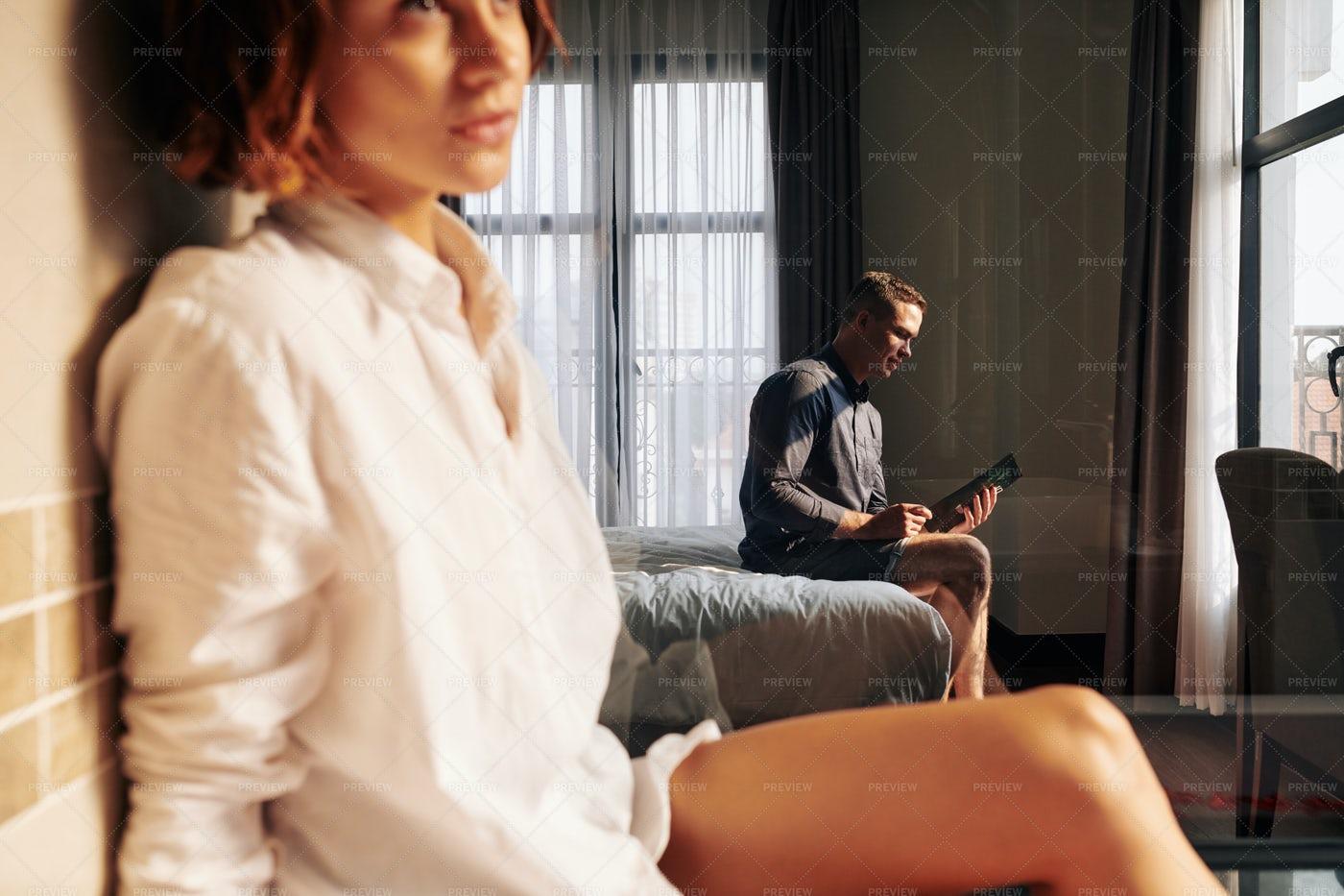 Man Avoiding Intimacy: Stock Photos