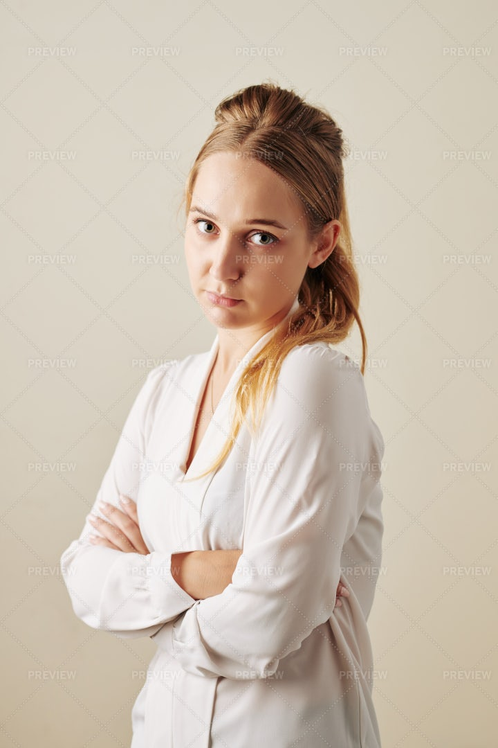 Offended Young Woman: Stock Photos