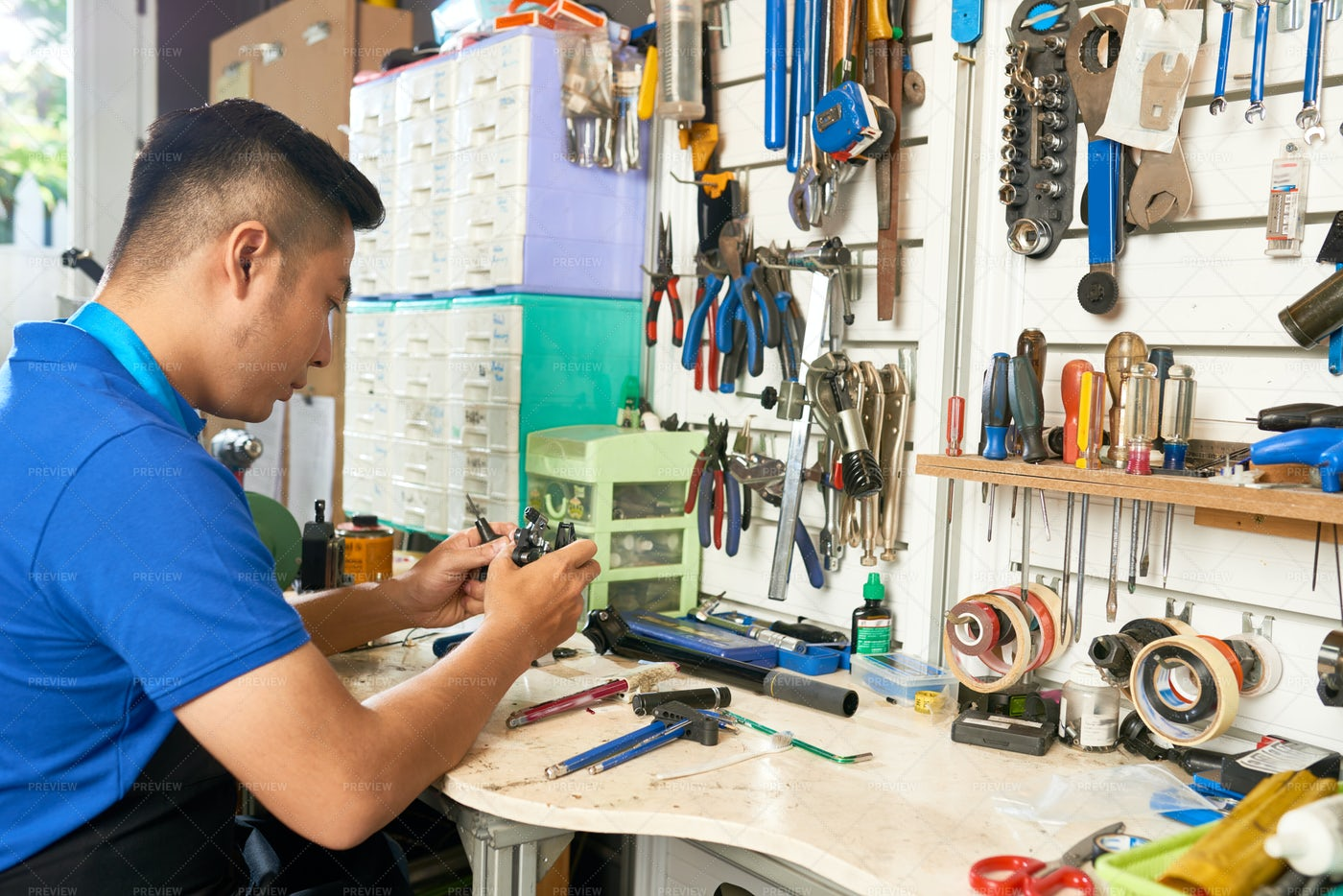 Man Working With Tools: Stock Photos