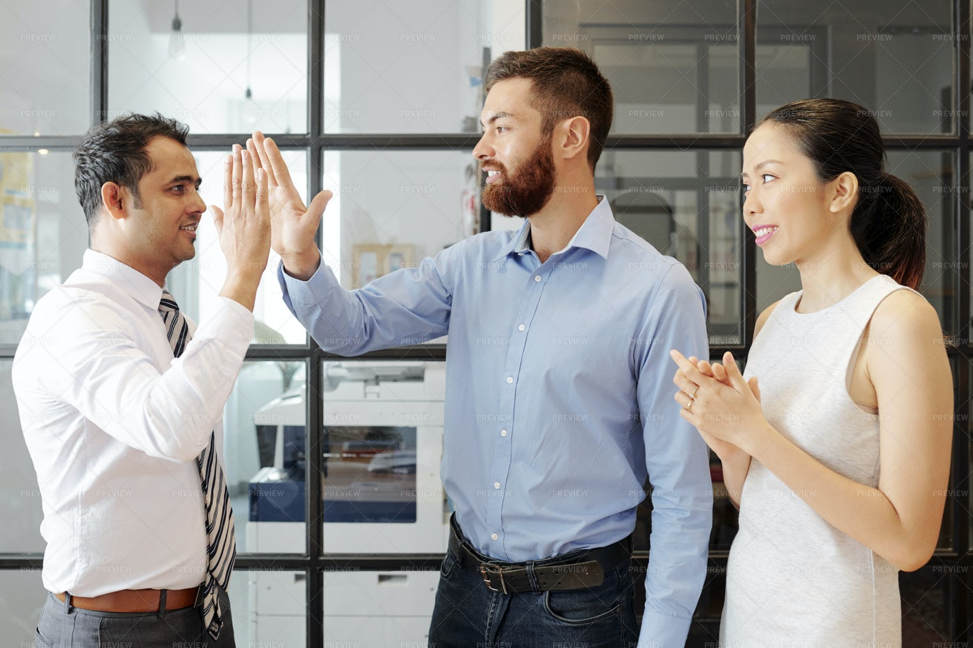 Successful Business People Working At: Stock Photos