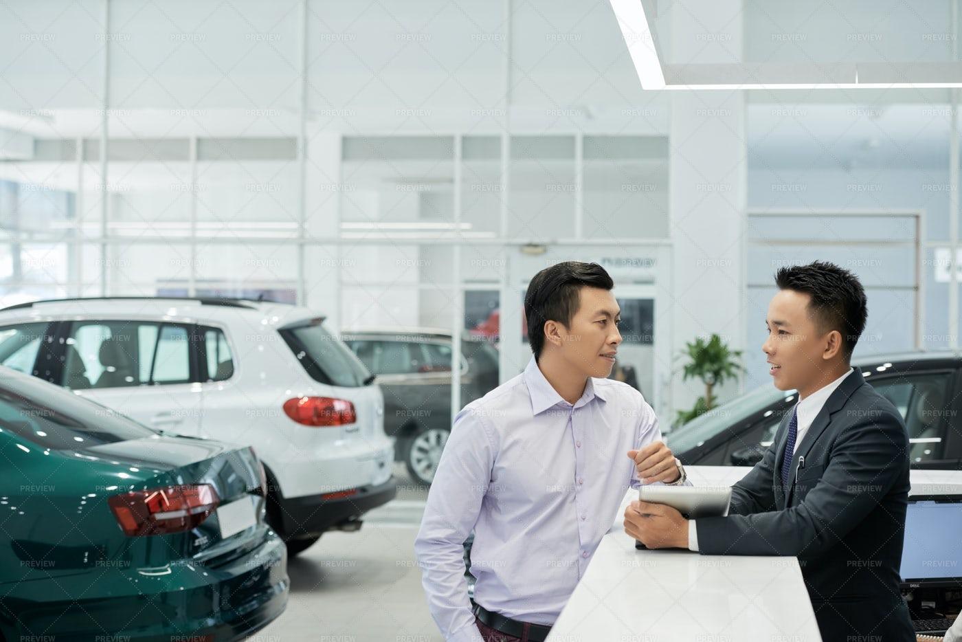 Customer At Car Dealership: Stock Photos