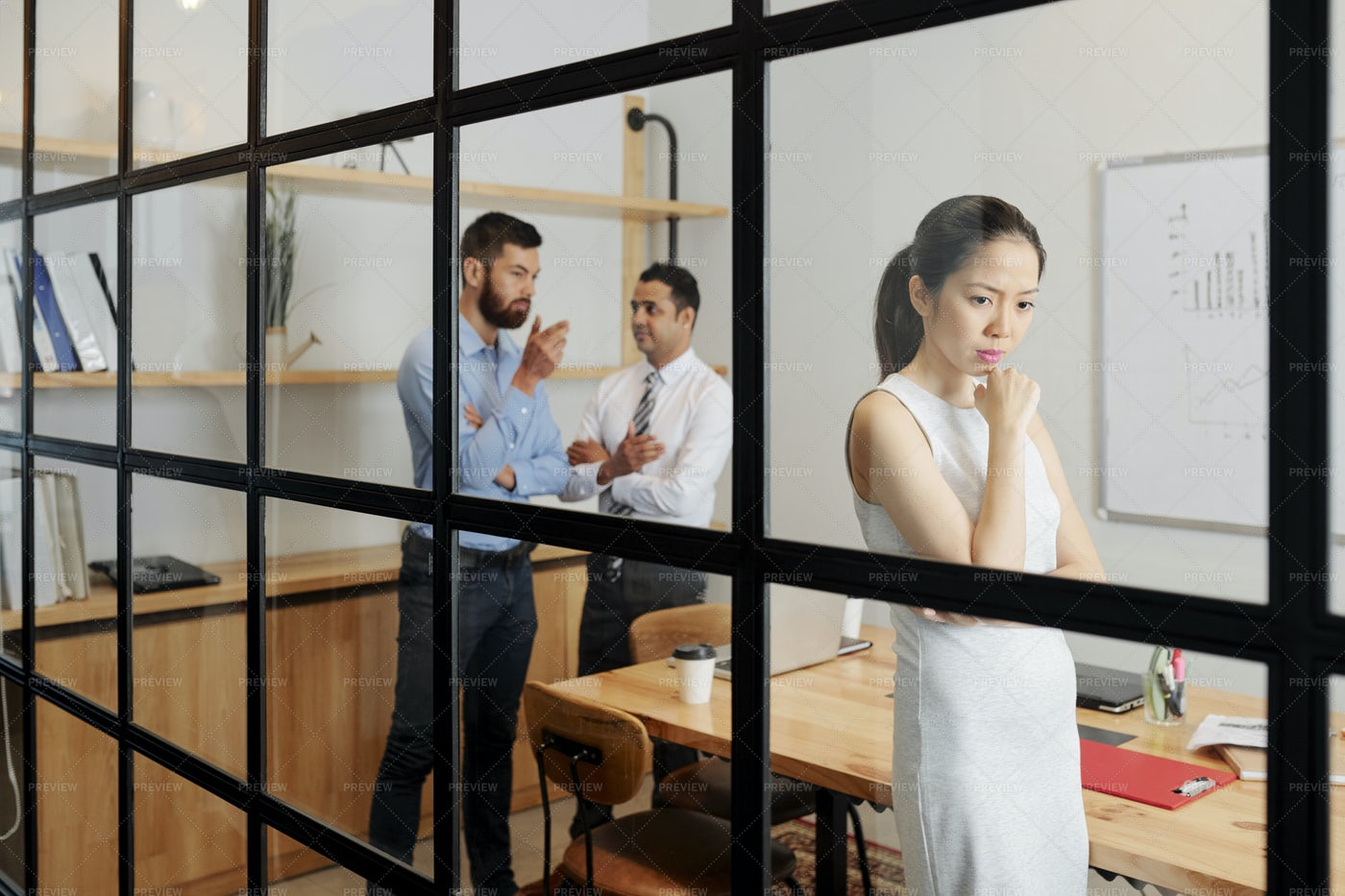 Business People In Board Room At Office: Stock Photos