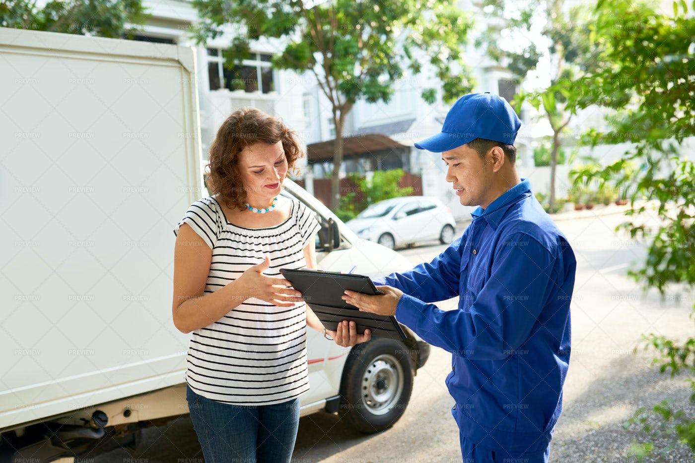 Delivery Service Concept: Stock Photos