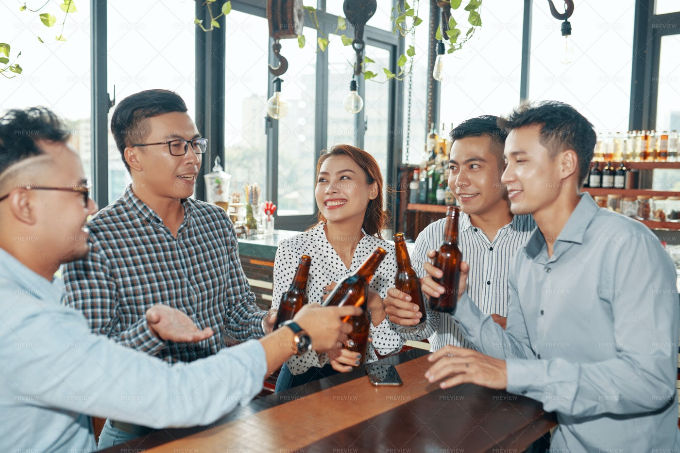 Business People Having Fun In The Bar: Stock Photos
