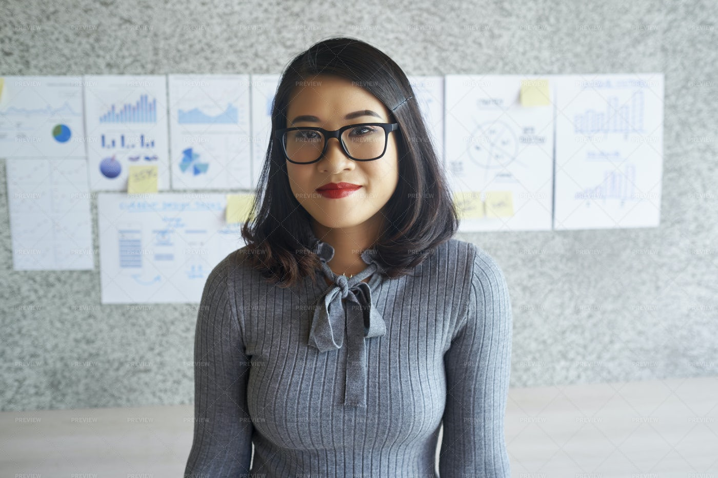 Young Secretary Working At Office: Stock Photos