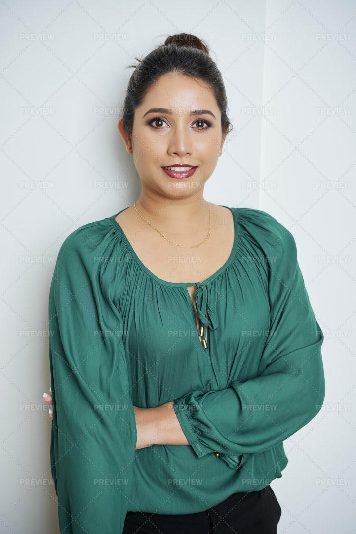 Portrait Of Indian Businesswoman: Stock Photos