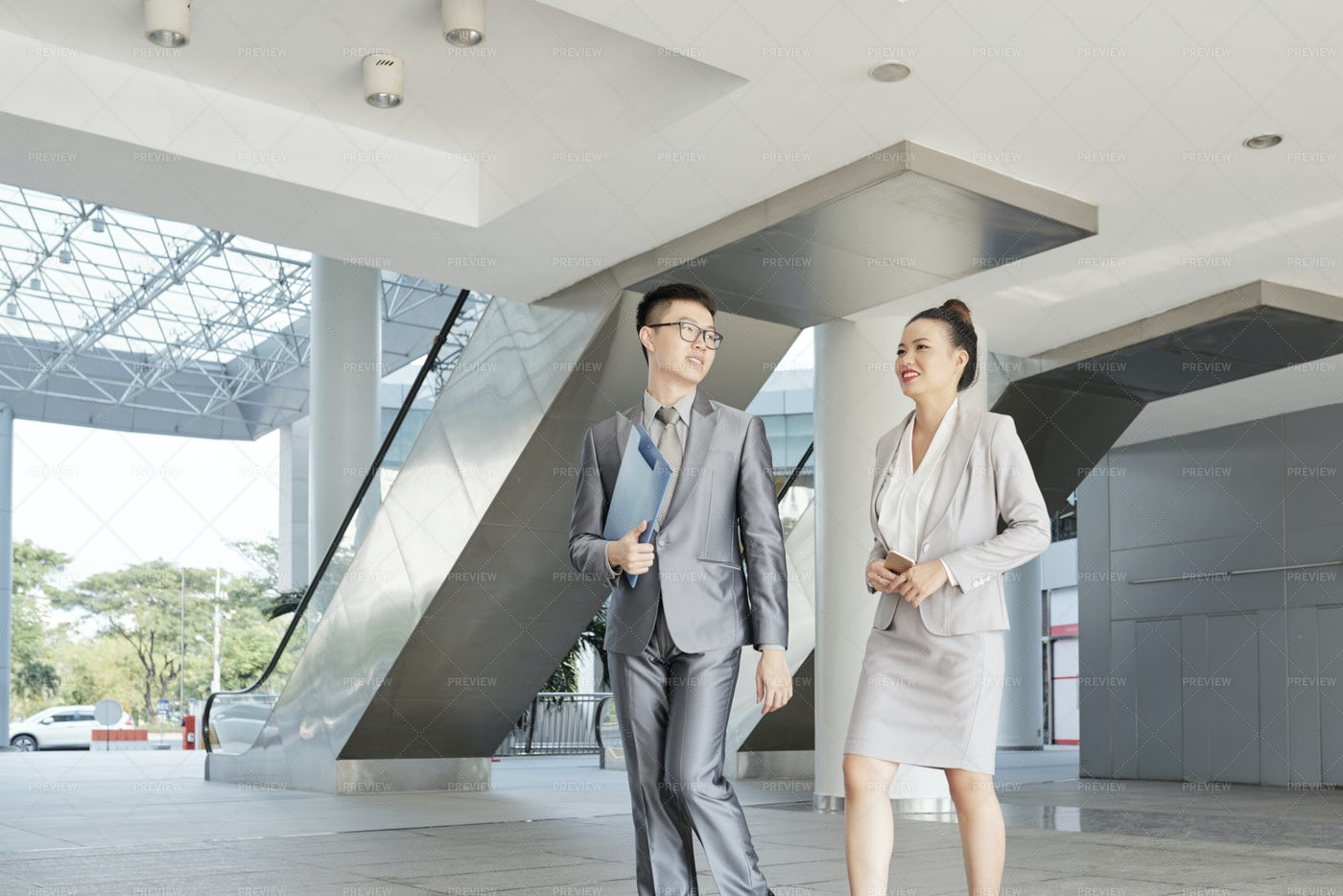 Asian Business People At Modern Office: Stock Photos